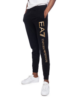 EA7 Train logo series M pants CH coft super slim black/gold PJ05Z-8NPPC3