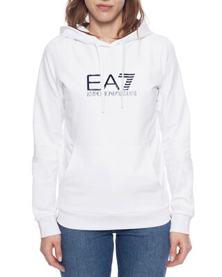 EA7 Train Shiny W Hoodie CN White/Navy Blue