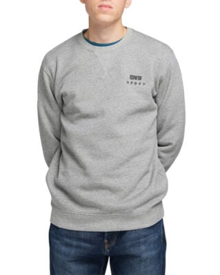 Edwin Base Crew Sweat Mouliné Grey