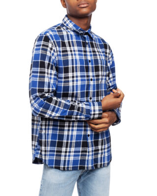 Edwin Don Shirt Ls Mazarine Blue