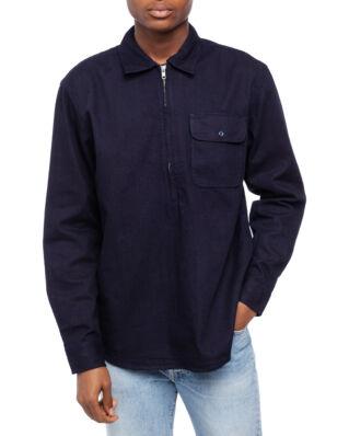 Edwin Naval Popover Shirt Ls Indigo