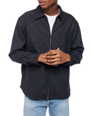 Edwin Wilson Zip Through Shirt Ls Anthracite