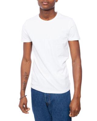 Emporio Armani Mens Knit 2-Pack T-Shirts Bianco/Bianco