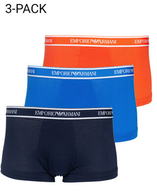 Emporio Armani 3-Pack Trunk Marine/Orange/Overseas
