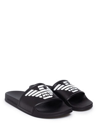 Emporio Armani Logo Lover Slider Black/White