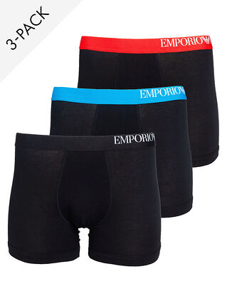 Emporio Armani Men's Knit 3-Pack CS713 111473 Black/Black/Black