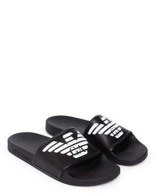 Emporio Armani Slipper Pu+Pvc X4PS01-XL828 Black/White