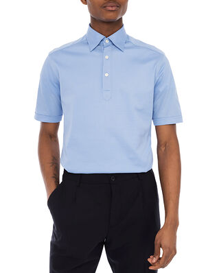 Eton Light Blue Polo Shirt Light Blue