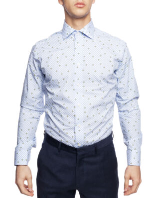 Eton Avocado Print Shirt Blue