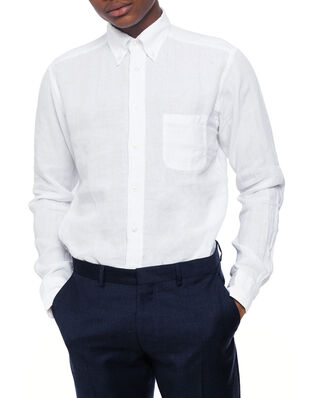 Eton Button Down Linen Shirt White