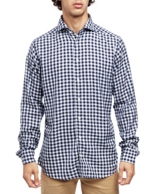 Eton Check Gingham Shirt Soft Navy