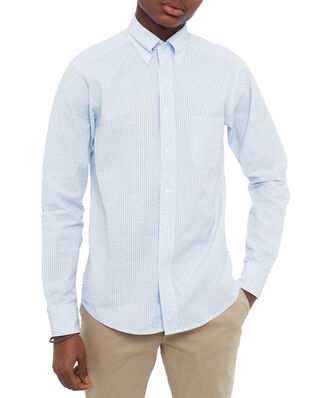 Eton Color Striped Poplin Shirt Light Blue