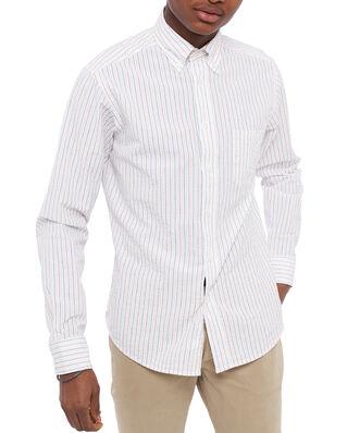 Eton Color Striped Poplin Shirt White