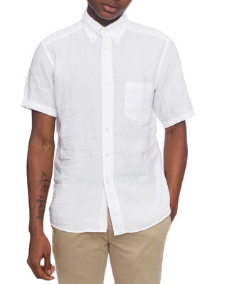 Eton Cut Away Linen Shirt White
