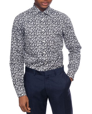 Eton Flowers Shirt Black & White Slim fit