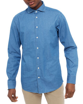 Eton Indigo Denim Shirt Slim Fit Blue