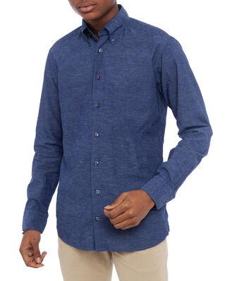 Eton Indigo Linen Slim Shirt Blue
