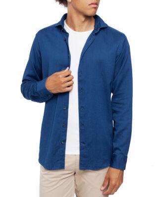 Eton Indigo Satin Shirt Soft Dark Blue