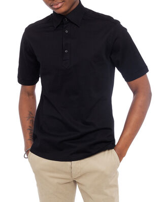 Eton Polo Popover Shirt Black
