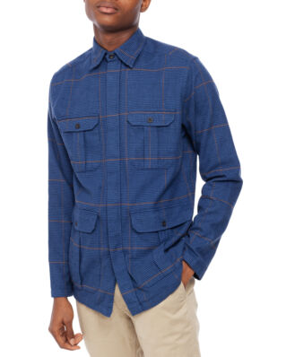 Eton Overshirt Check Blue