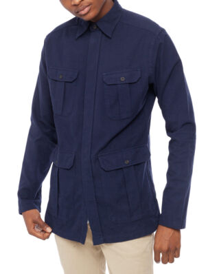 Eton Oxford Overshirt Dark Blue