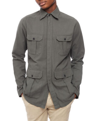 Eton Oxford Overshirt Green