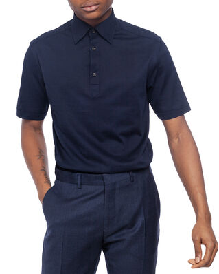 Eton Polo Piqué Shirt Blue