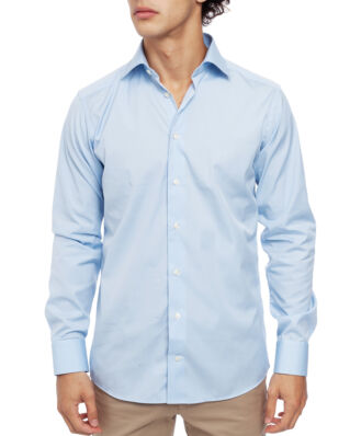 Eton Poplin Shirt Slim Fit Cut Away Light Blue