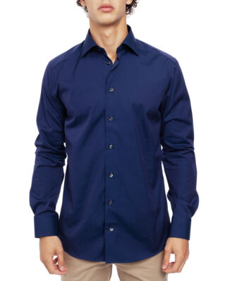 Eton Poplin Shirt Slim Fit Cut Away Navy