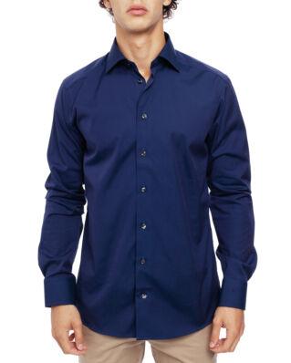 Eton Poplin Shirt Slim Fit Cut Away Navy