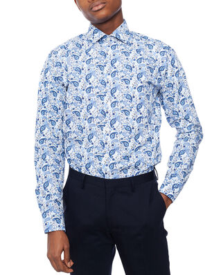 Eton Poplin Shirt Slim Fit Paisty Print Blue