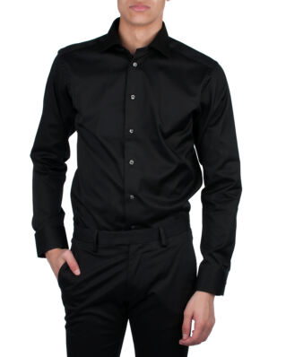 Eton Signature Twill Shirt Black Slim fit