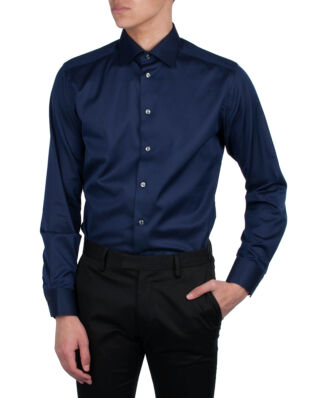 Eton Signature Twill Shirt Navy