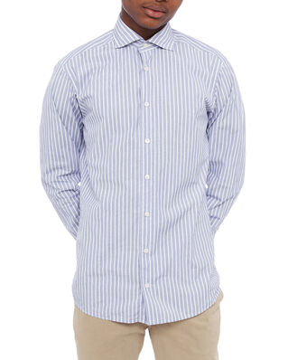Eton Striped Lightweight Poplin Shirt Blue/White