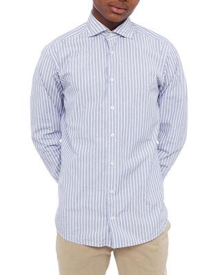 Eton Striped Lightweight Poplin Shirt Blue/White