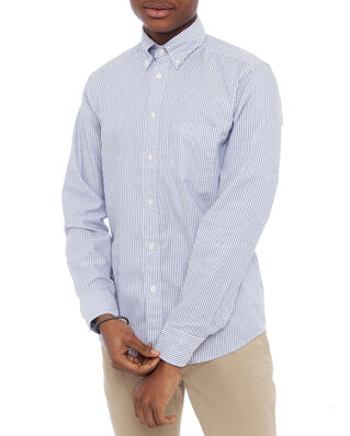 Eton Striped Oxford Slim Shirt Blue