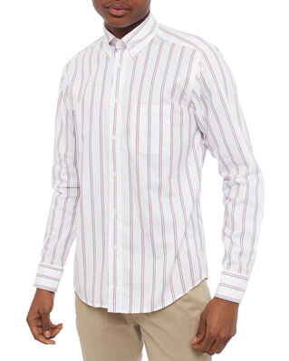 Eton Striped Oxford Slim Shirt White