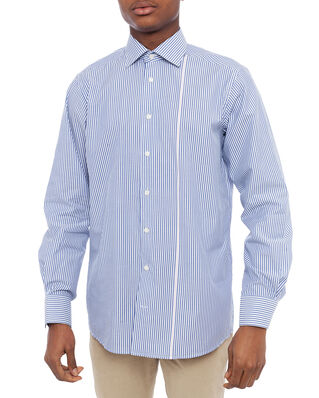Eton Striped Poplin Shirt Blue