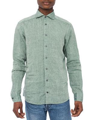 Eton Linen Shirt Green