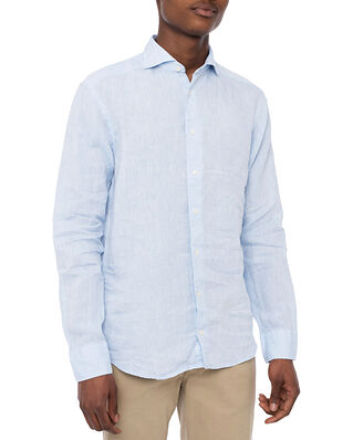 Eton Linen Shirt Light Blue