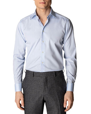 Eton Poplin Shirt Slim Fit Cut Away Light Blue