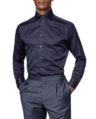 Eton Signature Twill Shirt Navy