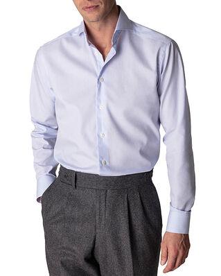 Eton  Slim Fit Extreme Cut Away Poplin Shirt Light Blue Stripe