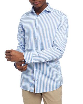 Eton Twill Shirt Blue
