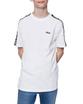 Fila Junior Kids Tait Tee Bright White