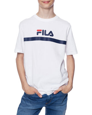 Fila Junior Kids Teal Tee Bright White