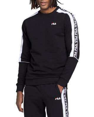 Fila Teom Crew Sweat Black - Bright White