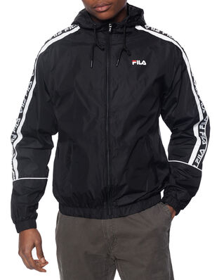 Fila Teva Wind Jacket Black - Bright White