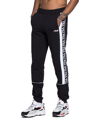 Fila Tevin Sweat Pants Black - Bright White