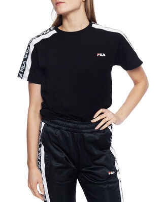 Fila Women Tandy Tee Black - Bright White